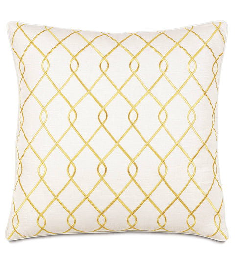 "Terrace Canary Decorative Euro Sham Cover 27"" x 27"""