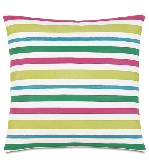 "Epic Alex Ribbon in Primary Decorative Pillow Cover 24"" x 24"""