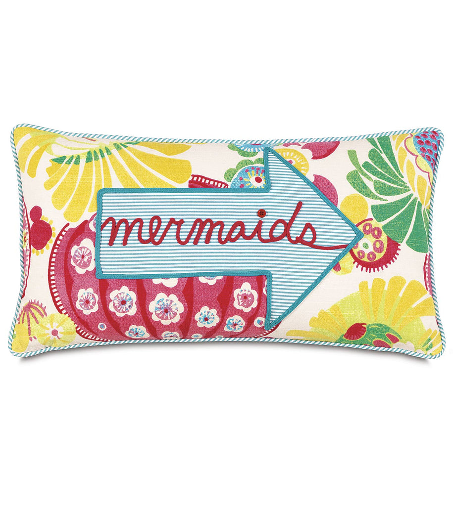 "Epic Alex 'Mermaids this Way' Decorative Pillow Cover 11"" x 21"""