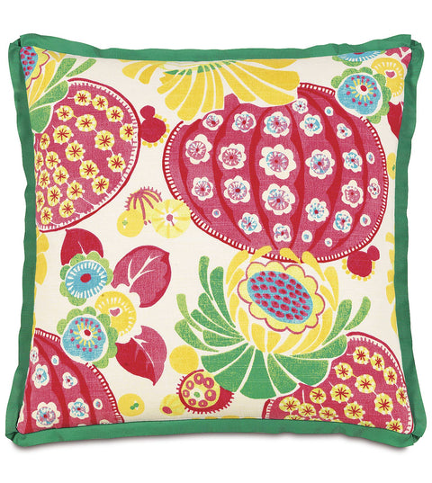 "Epic Alex Floral Print Decorative Pillow Cover 20"" x 20"""