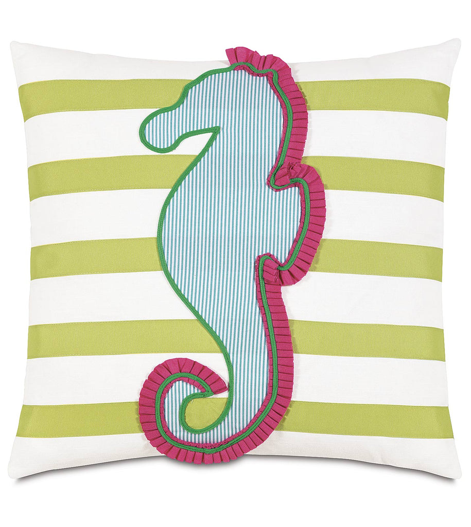 "Epic Alex Seahorse Applique Pillow Cover 20"" x 20"""