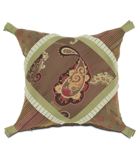 "14""x14"" Amelie Collage Luxury Pillow Cover"