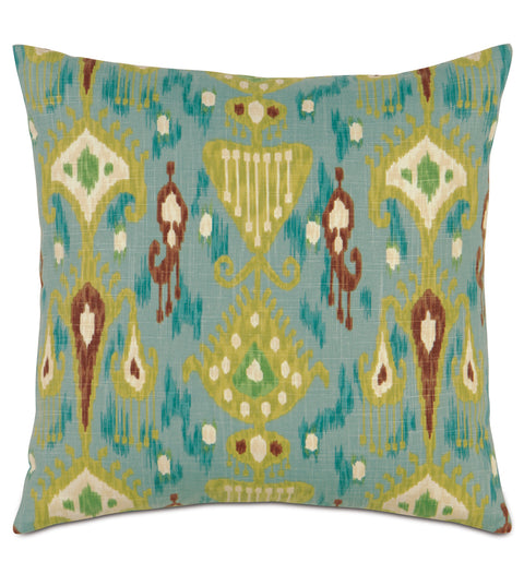 "20"" x 20"" Bohemian Watercolor Print Decorative Pillow Cover"