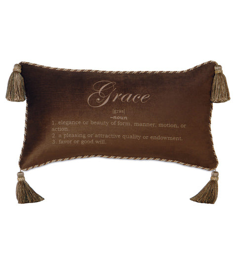 "Poised Velvet 'Grace' Decorative Pillow Cover 15"" x 26"""