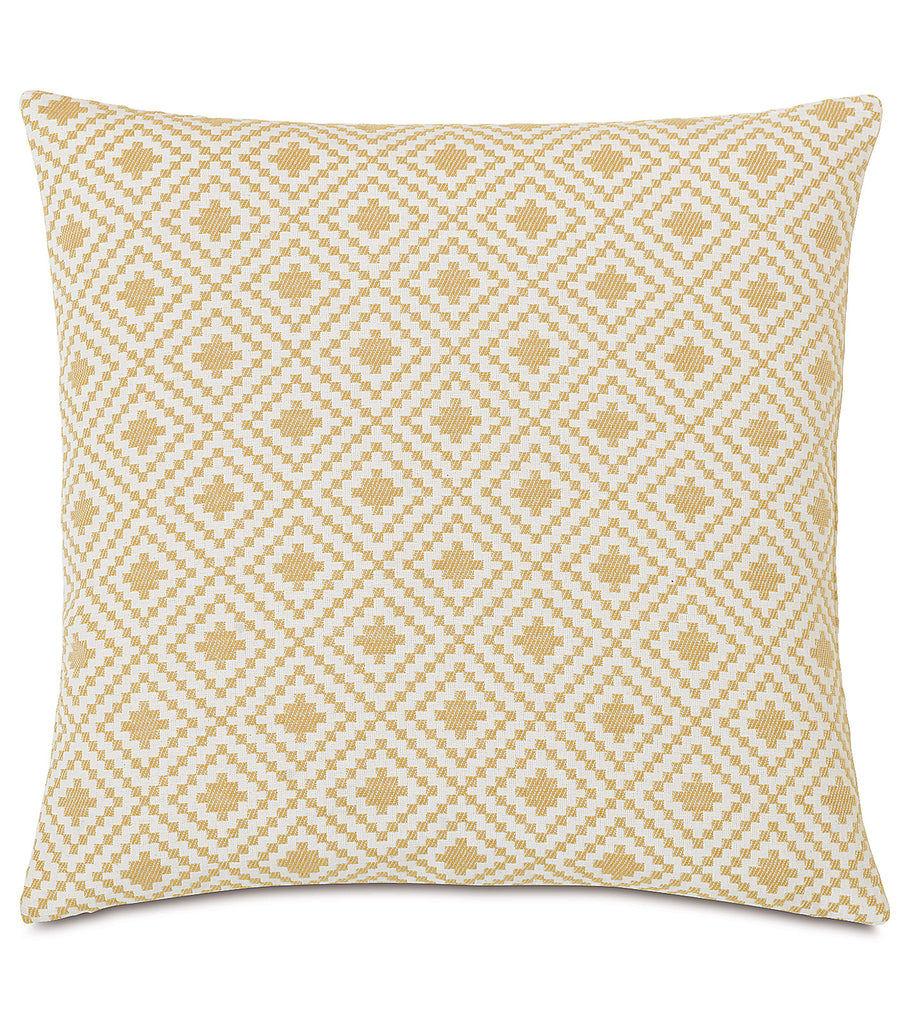 "16"" x 16"" Geometric Diamonds in Natural Decorative Pillow Cover"