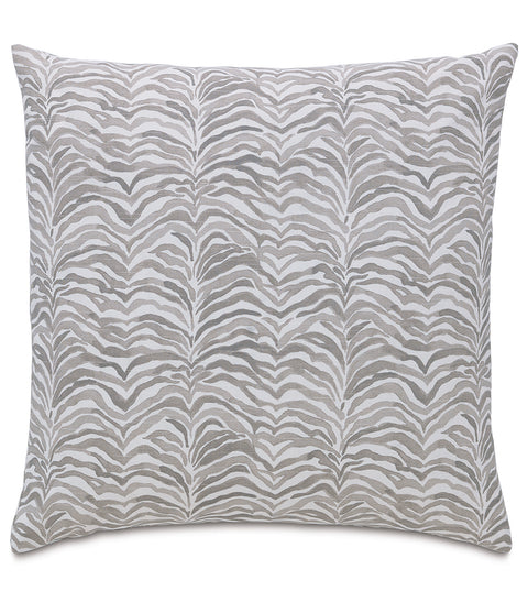 "Monochrome Tropical Watercolor Stripe Pillow Cover 20"" x 20"""