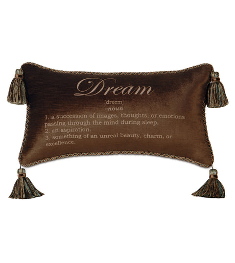 "Poised Velvet 'Dream' Decorative Pillow Cover 15"" x 26"""