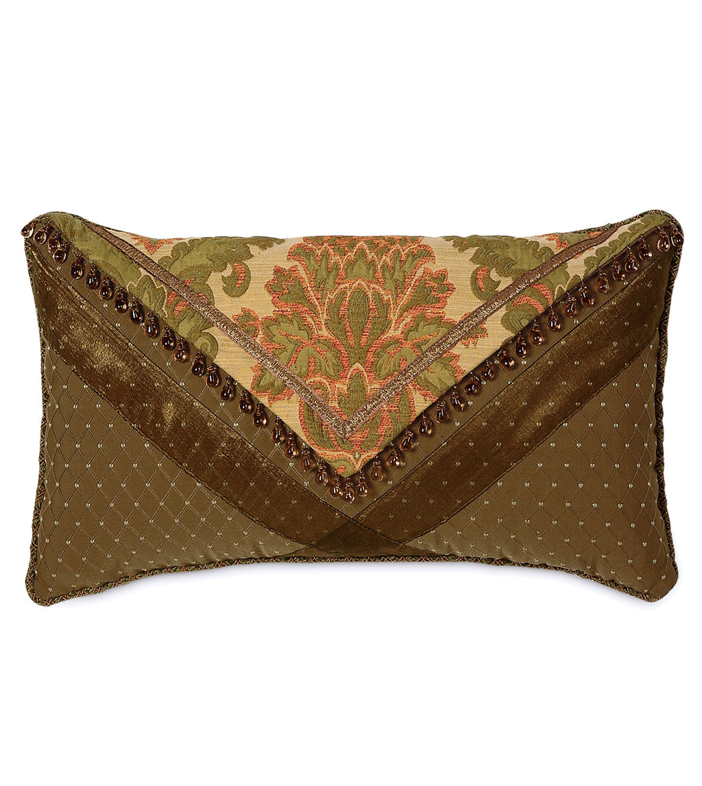 "Arosa Copper Damask Envelope Luxury Pillow Cover 13""x22"""