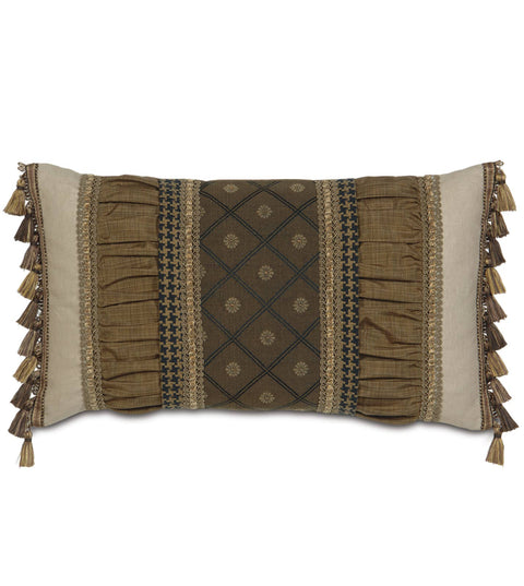 "Astoria Bothwell Ruched Lumbar Pillow Cover 15""x26"""