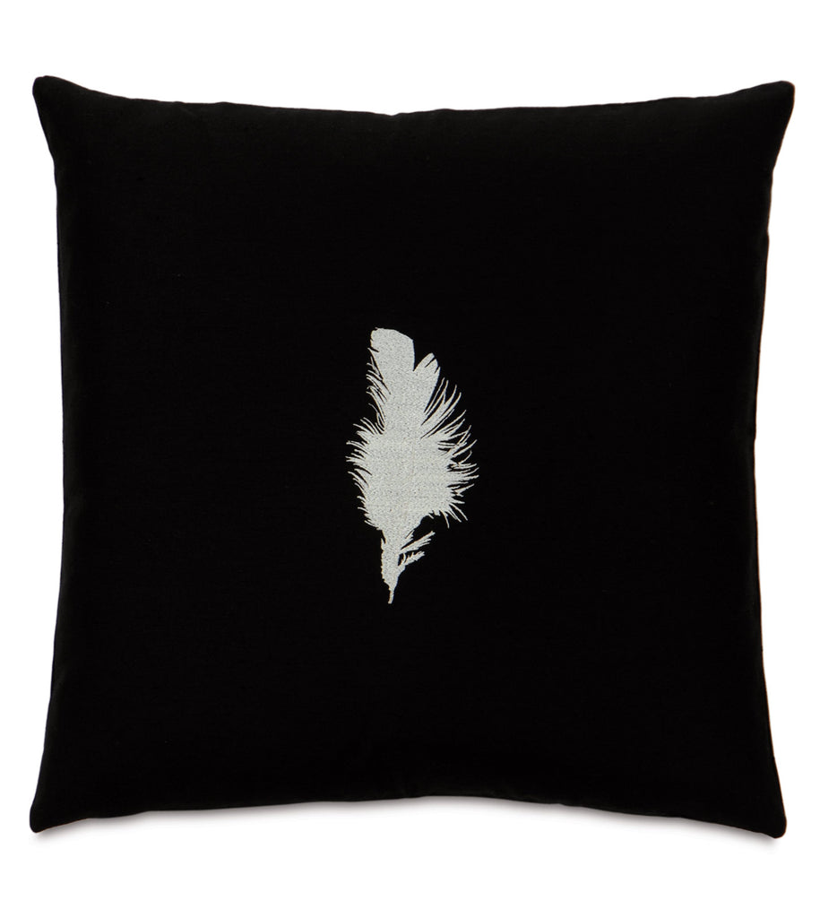 "20"" x 20"" Freefall White and Black Decorative Pillow Cover"