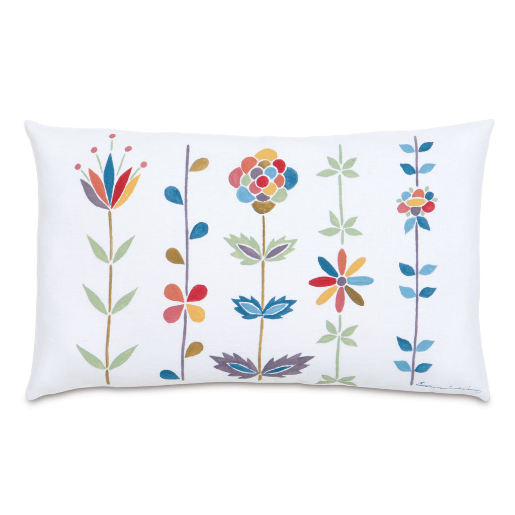 "Folkloric Decorative Pillow 13""x22"""