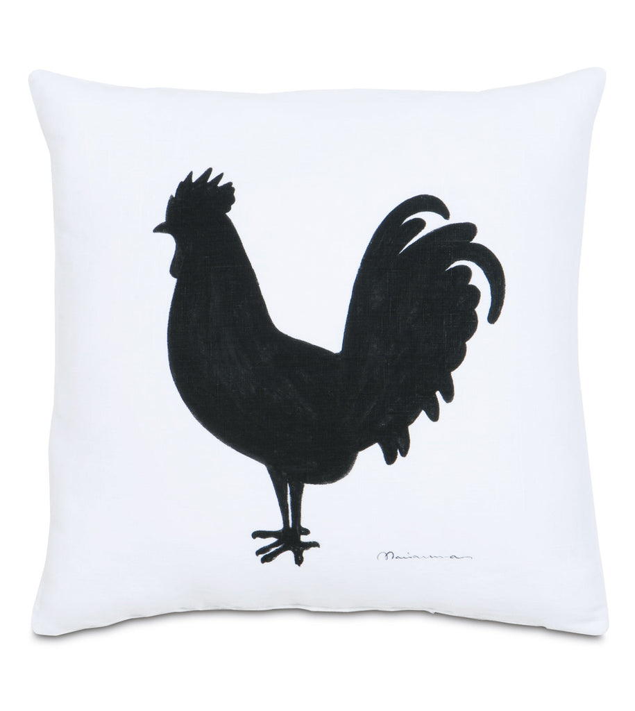 "One Rooster Decorative Pillow Cover 20"" x 20"""
