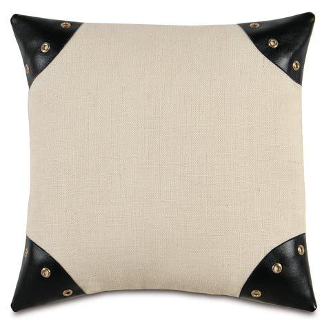 "Passport Ivory Decorative Pillow 20""x20"""