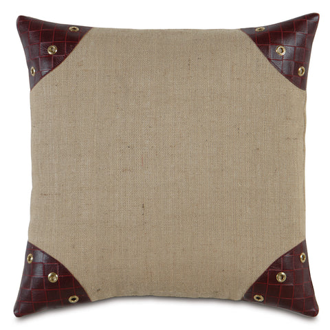 "Passport Tan Decorative Pillow 20""x20"""
