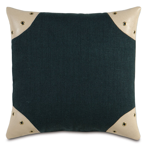 "Passport Black Decorative Pillow 20""x20"""