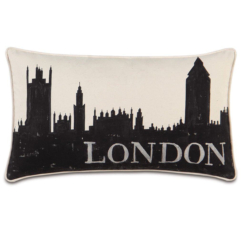 "Passport London Decorative Pillow 15""x26"""