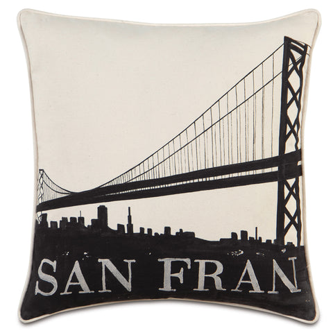 "Passport San Francisco Decorative Pillow 22""x22"""