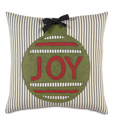 "Ornament Joy Decorative Pillow Cover 18""x18"""