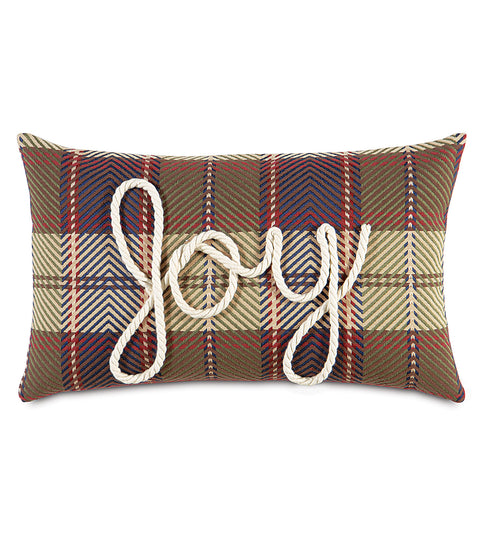 "Lasso Joy Decorative Holiday Pillow Cover 13""x22"""