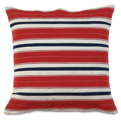 "Red Forever Stripes Outdoor Pillow Cover 18""x18"""