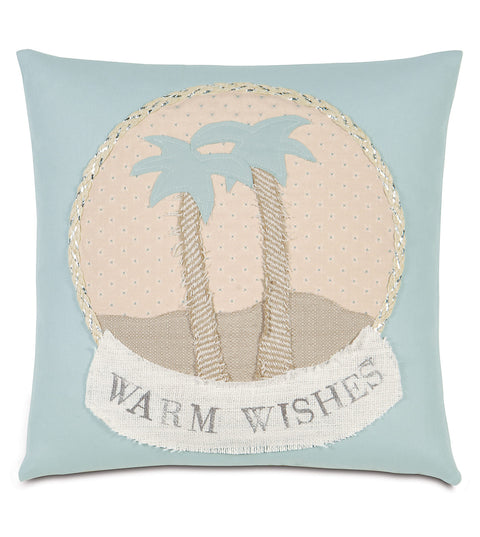 "18"" x 18"" Wishes from the Beach Decorative Pillow Cover"