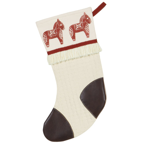 "Nordic Holiday Dala Horse Stocking 20""x12"""