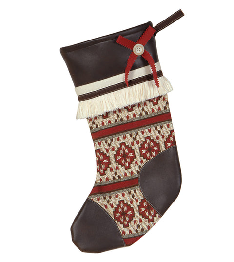 "Nordic Holiday Winter Woolies Stocking 20""x12"""