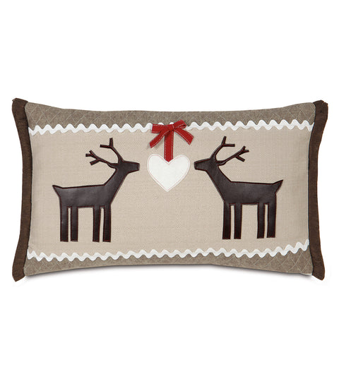 "13"" x 22"" Deer Love Christmas Decorative Pillow Cover"