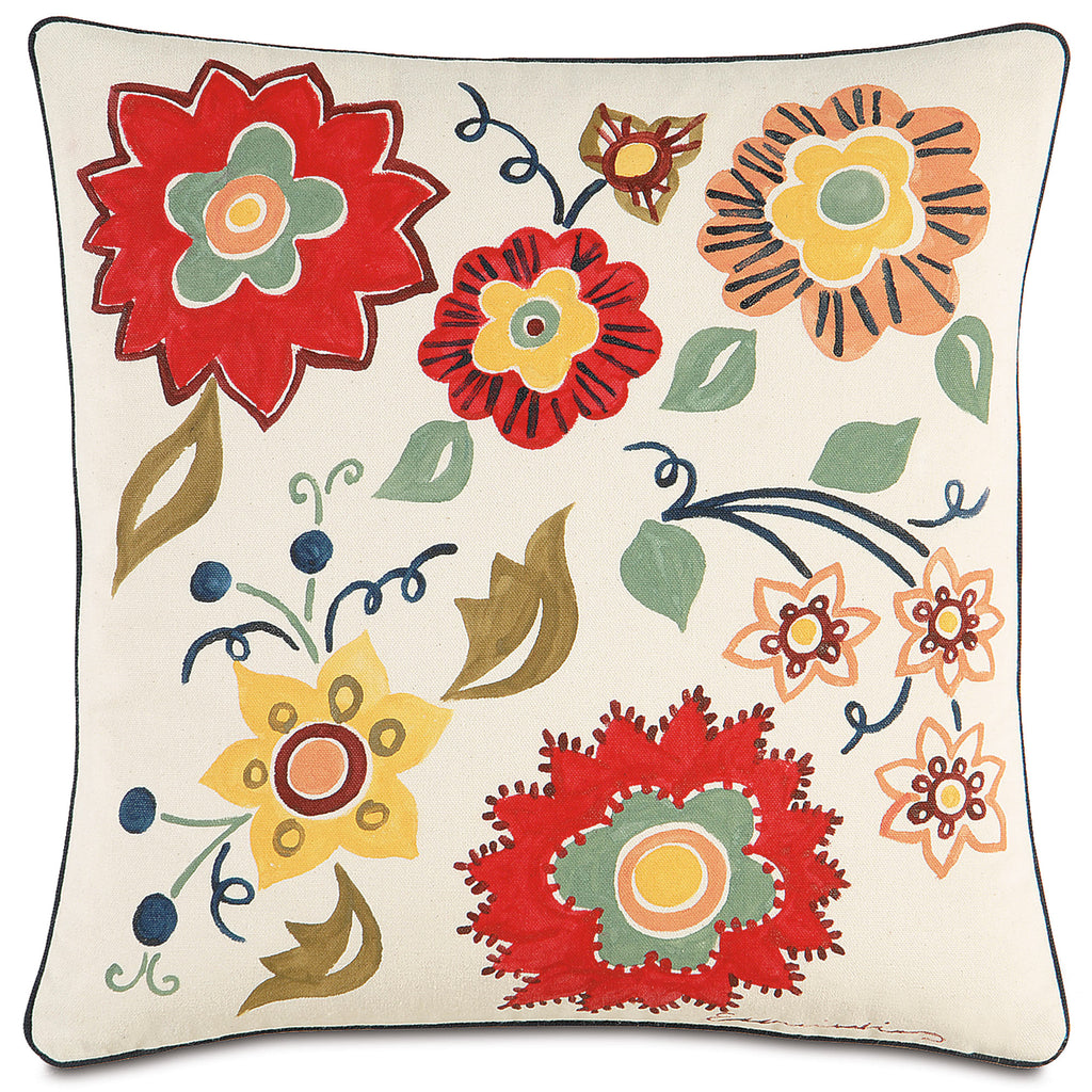 "Folkloric Decorative Pillow 18""x18"""