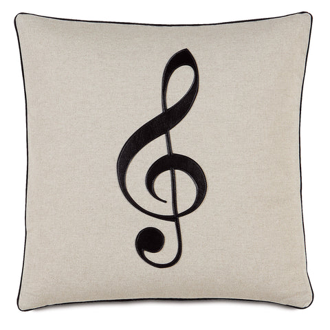 "Music Treble Clef Decorative Pillow 20""x20"""