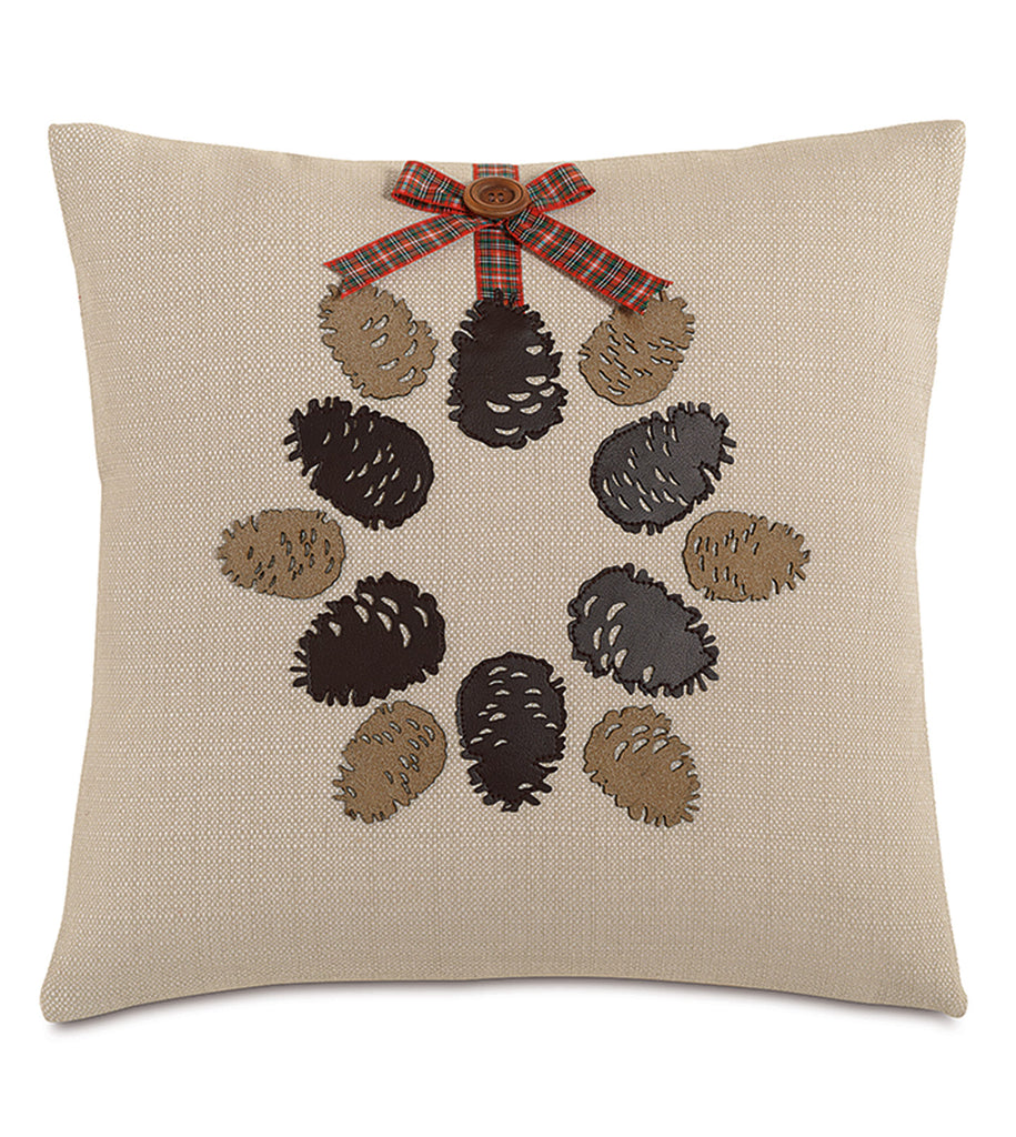 "Conifer Cone Decorative Pillow Cover 18"" x 18"""