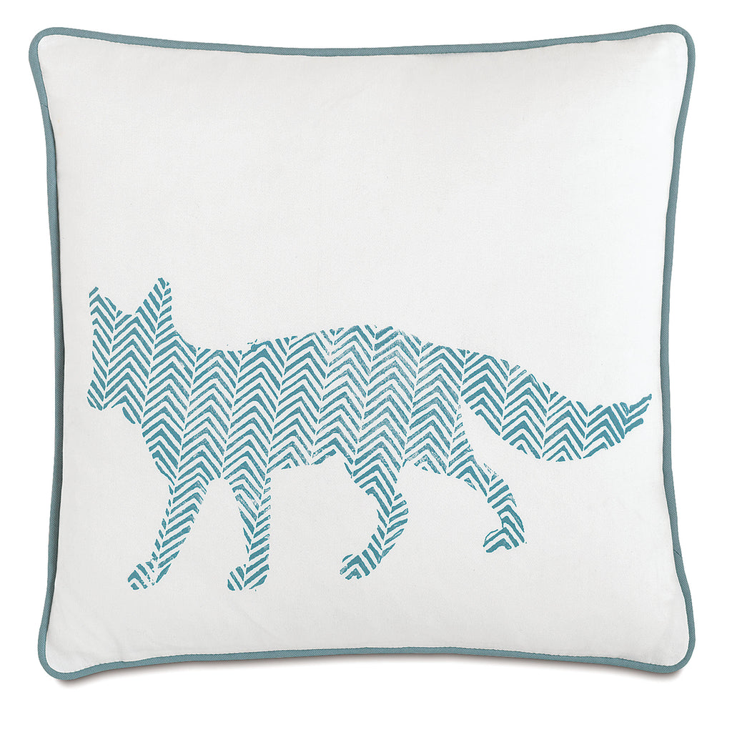 "Wild Things Fox Decorative Pillow 18""x18"""