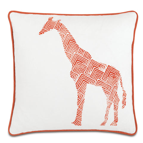 "Wild Things Giraffe Decorative Pillow 18""x18"""