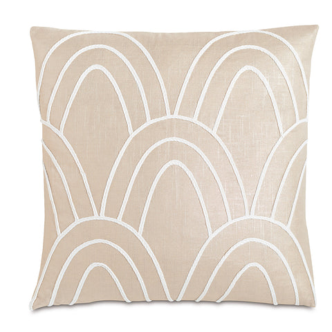 "Being Oval Linen Decorative Pillow 22""X22"""