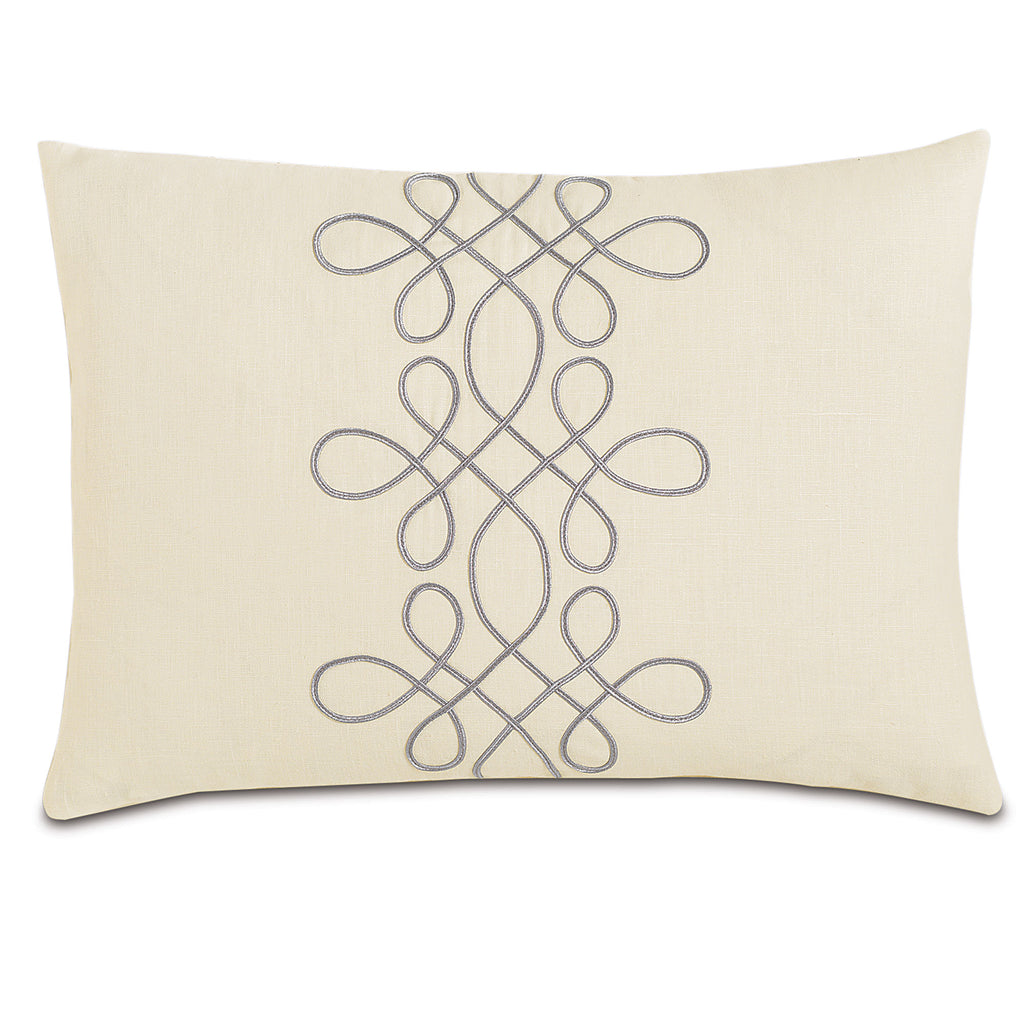 "Ivory Marquise Linen Decorative Pillow 16""X22"""