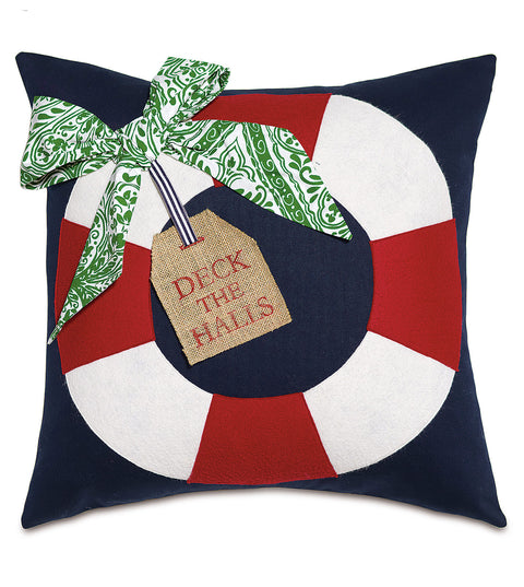 "Holiday on Deck Decorative Pillow Cover 20""x20"""
