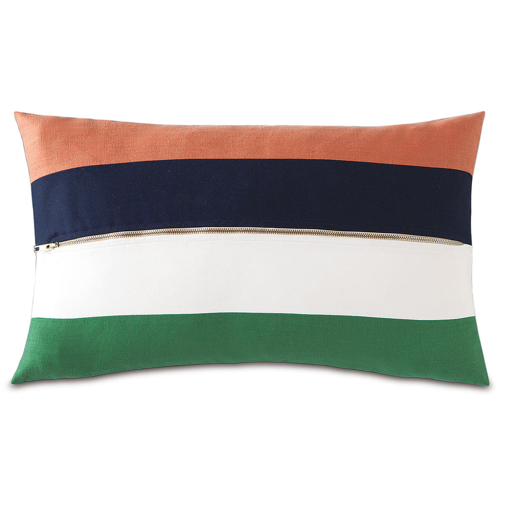 "Preppy Color Block Decorative Pillow 13""x22"""