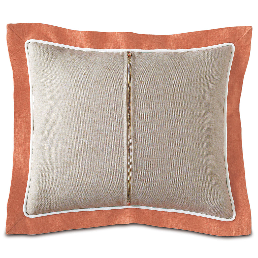 "Preppy Zipper in Orange Decorative Pillow 15""x18"""