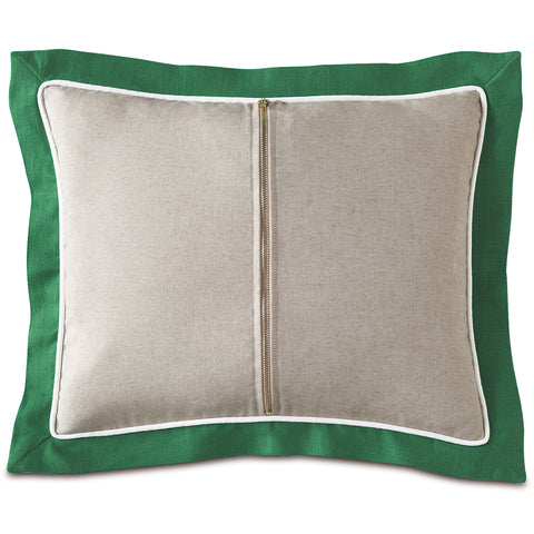 "Preppy Zipper in Green Decorative Pillow 15""x18"""