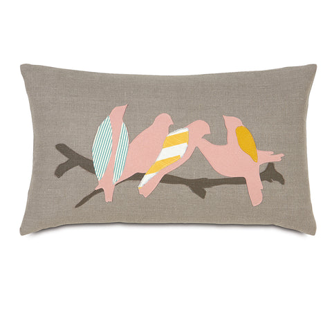 "Wild Things Flock Decorative Pillow 13""x22"""