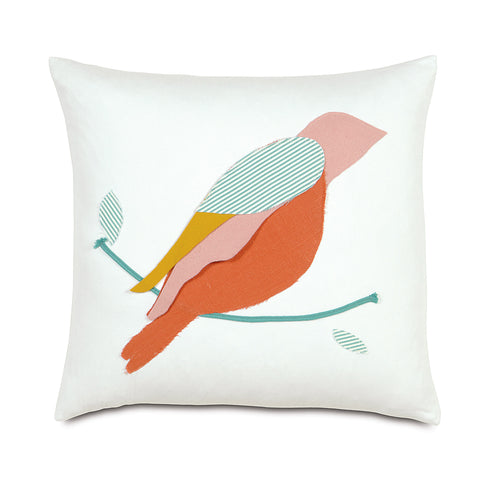 "Wild Things Bird Decorative Pillow 18""x18"""