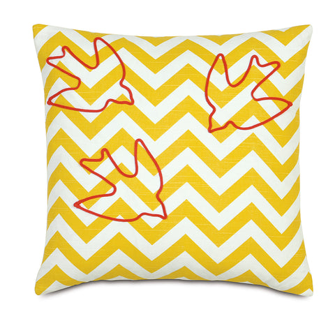 "Wild Things Chevron Decorative Pillow 18""x18"""