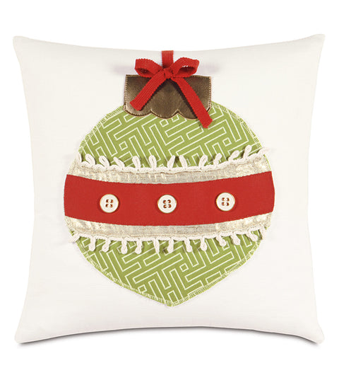 "Tree Ornament Square Pillow Cover 18""x18"""