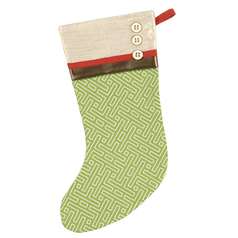 "Versocke Greek Key Christmas Stocking 20""x12"""