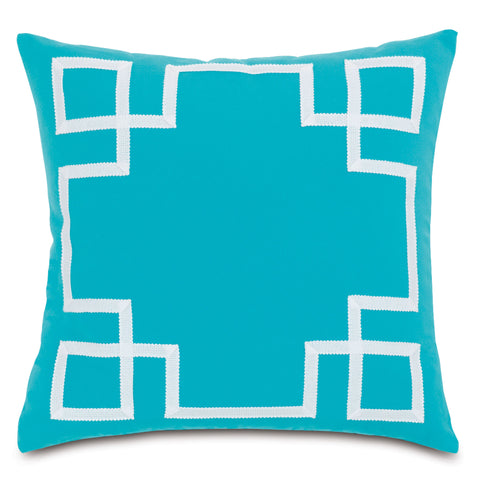 "Turquoise Decorative Outdoor Pillow Cover 20""x20"""