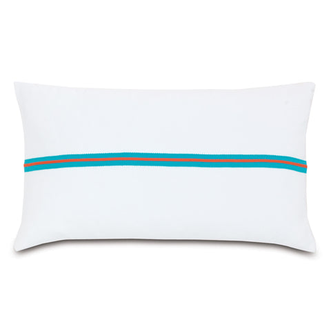 "Poolside Plank Decorative Outdoor Pillow Cover 13""x22"""