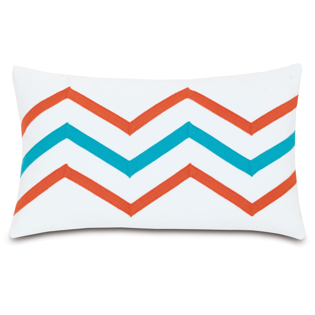 "Poolside Flip-Flop Decorative Outdoor Pillow Cover 13""x22"""
