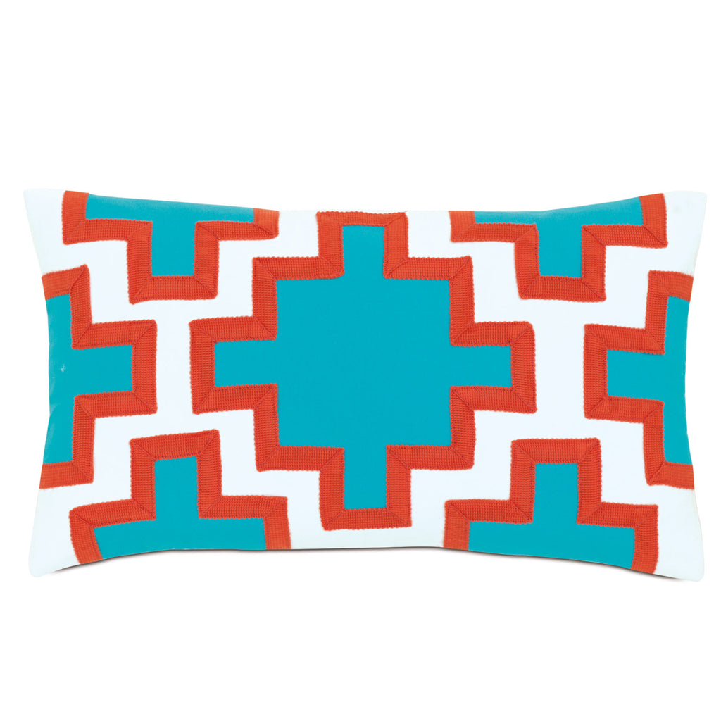 "Poolside Decorative Outdoor Pillow Cover 13""x22"""