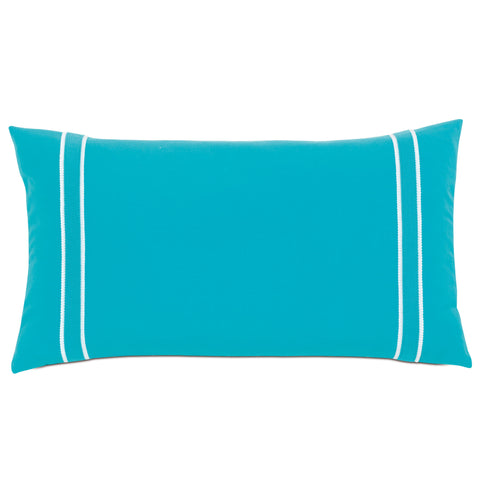 "Poolside Deep End Decorative Outdoor Pillow Cover 15""x26"""