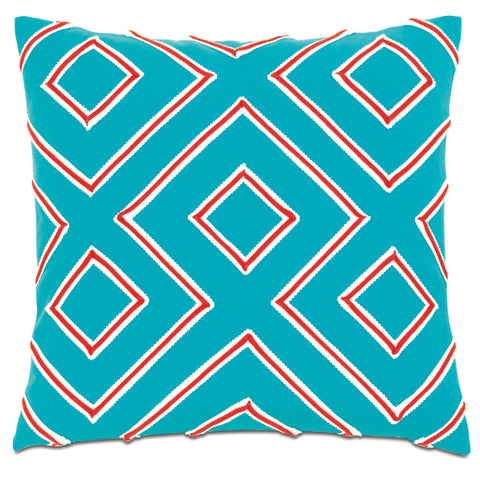 "Poolside Slide Decorative Outdoor Pillow Cover 20""x20"""